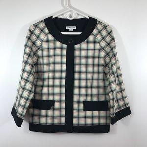 PENDLETON 100% Virgin Wool Plaid 3/4 Sleeve Jacket